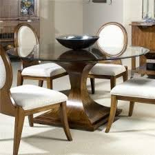Round Glass Dining Room Sets Foter - Dining room suite