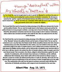 pike letters albert pike s blueprint three world war el jihadi