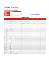 Excel Inventory Templates Home Inventory Template Insurance Spreadsheet Template Home