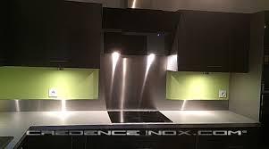 bandeau inox pour cuisine photos de crédences cuisine idées décoration et installations clients