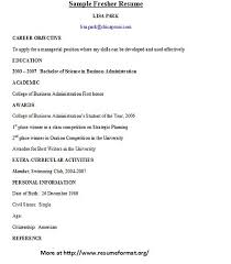 Resume For Writing Job by For Various Fresher Resume Formats Visit Www Resumeformat Org