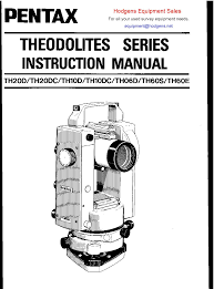 pentax theodolite series instruction manual other files
