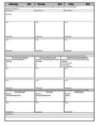google docs lesson plan template template design
