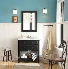 Expresso Color Bathroom Vanity Cabinet - Solid wood 32 inch bathroom vanity