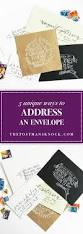5 unique ways to address an envelope