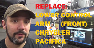 replace front lower control arm chrysler pacifica youtube
