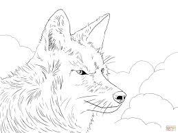 coyote head coloring page free printable coloring pages