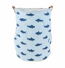 laundry hamper canvas large canvas storage toy or laundry basket shark angus u0026 dudley