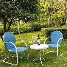 Retro Metal Patio Furniture - amazon com crosley furniture griffith 3 piece metal outdoor