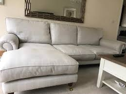 Laura Ashley Slipcovers Laura Ashley Kingston 3 Seater Chaise Sofa And Snuggler In