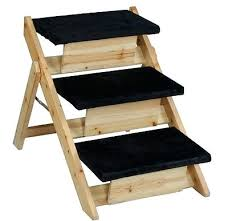 folding dog stairs for bed wood pet cat dog stairs ladder ramp 3