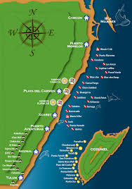 Map Of Playa Del Carmen Mexico by Scuba Libre Scuba Diving In Playa Del Carmen