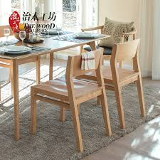 Solid Wood Dining Chairs Pure Solid Wood Dining Chair American Black Walnut Color White Oak