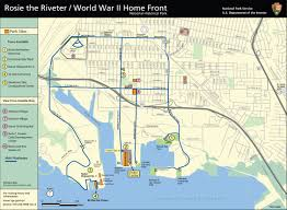 World Of Work Map by Maps Rosie The Riveter Wwii Home Front National Historical Park