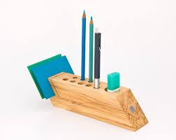 Desk Pencil Holder Desk Organizer Office Accessory Wood Pen Pencil Holder Desktop