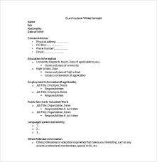 simple resume format download free simple curriculum vitae exles simple sle resume templates