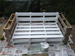 Pallet Patio Furniture Pinterest by Pallet Sofa Secure All Of The Pieces Together Paint Then Add