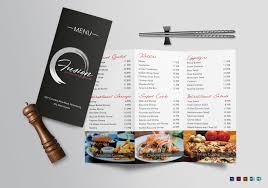 word for cuisine trifold menu templates free for you cuisine tri fold menu design