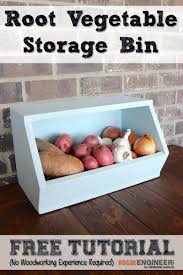 storage bins wooden vegetable storage containers bin plans