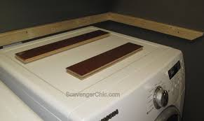 table top washer dryer wood countertop diy scavenger chic