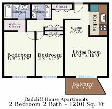 2 bedroom floorplans radcliff house bryn mawr pa