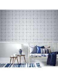 papier peint vinyl cuisine inspiration cuisine papier peint carreaux de ciment gris bleu graham