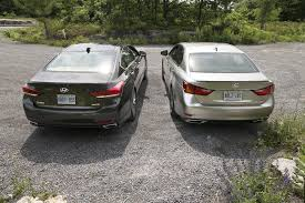 lexus awd comparison 2015 hyundai genesis 3 8 versus 2015 lexus gs 350 awd autos ca