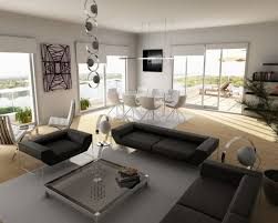 marvelous modern living gym room design with white couch combined