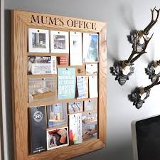 pin boards personalised cork or chalk notice board by the oak rope company
