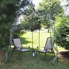 amazon com cobraco 3 sided gazebo arch gaz g arched pergola
