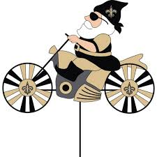 Garden Spinners And Decor New Orleans Saints Motorcycle Wind Spinner Yard Decoration