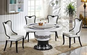 Glass Round Dining Table For 6 Chair Marble Top Dining Table Set White White Marble Dining Table