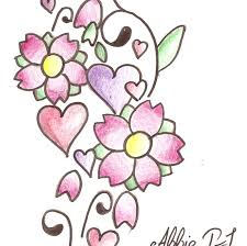 flower and heart tattoos clipart library clip art library