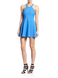 elizabeth and james sonya mia fit u0026 flare dress in blue lyst