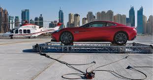 The Burj Al Arab Aston Martin Vanquish Lands On Top Of The Burj Al Arab Tower In