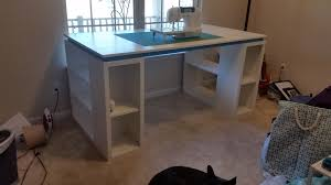 Diy Sewing Desk White Craft Sewing Table Diy Projects