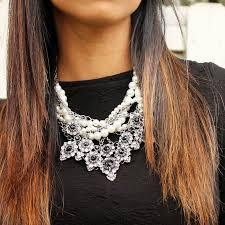 statement chain necklace images Zara pearls chains statement necklace jpg