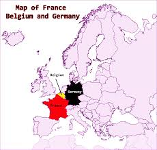 Political Map Of France by Map Of France Belgium And Germany Travel
