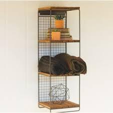 wooden shelf with hanging rod wayfair