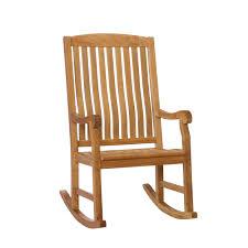 Front Patio Chairs by Amazon Com Southern Enterprises Teak Wood Porch Rocking Chair