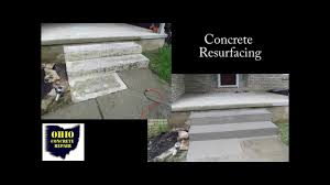 Cover Cracked Concrete Patio by How To Resurface Concrete Steps Cement Stair Repair Repairing