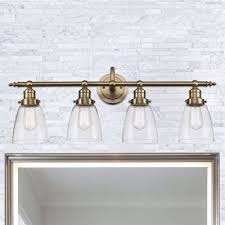 Excellent Gold Bathroom Lighting Fixtures And White Walls Ideas Bathroom Light Fixtures