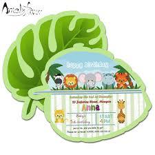 theme invitations safari animals theme invitations card birthday party supplies