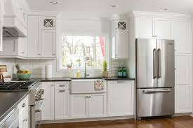 White Kitchen Glass Cabinets A Look At Classic White Kitchen Shrewsbury New Jersey By Design