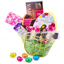 Easter Basket Delivery Godiva Easter Chocolate Spring Gift Basket Delivery In Europe