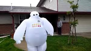 inflatable baymax costume youtube