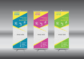 free printable vertical banner template roll up banner free vector art 12574 free downloads