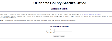 Michigan Bench Warrants Oklahoma County Warrant Search Check For Outstanding Active