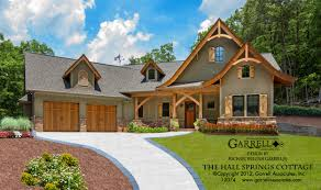 cottage building plans the hall springs cottage house plans by garrell associates inc