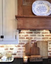 kitchen backsplash for white cabinets best 25 brick backsplash white cabinets ideas on